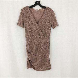 Zara TRF Mauve Knit V Neck Dress | Small | NWOT